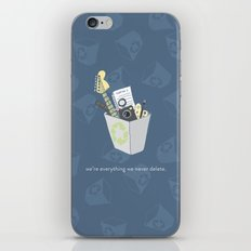 Never Delete iPhone & iPod Skin