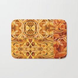 Abstract Chinese Noodle Bath Mat
