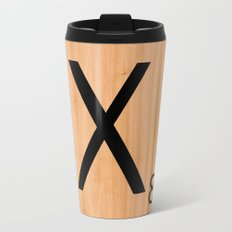 Scrabble Letter Tile - X Travel Mug