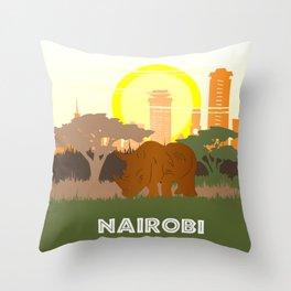 Nairobi National Park Kenya Throw Pillow