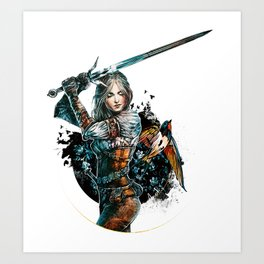 Ciri - The Witcher Wild Hunt Art Print