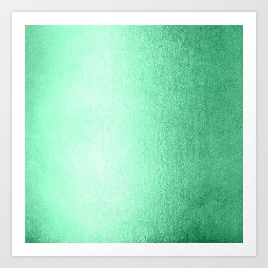 Mint Meringue Shimmer Art Print