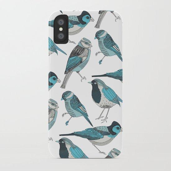 pale green birds iPhone Case