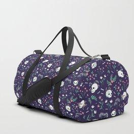 Skull Floral Duffle Bag