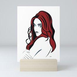 Lila Scarlett (portrait) Mini Art Print