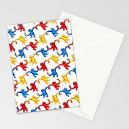 Monkey Toy Pattern Stationery Cards