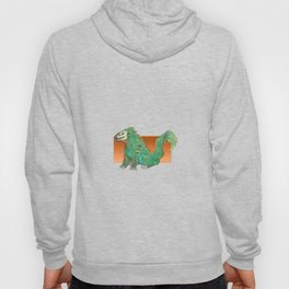 A Feathery Green Monster Hoody