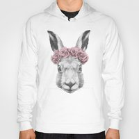 hare Hoodies featuring Hare  by Victoria Novak