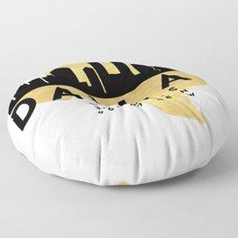 DALLAS TEXAS SILHOUETTE SKYLINE MAP ART Floor Pillow