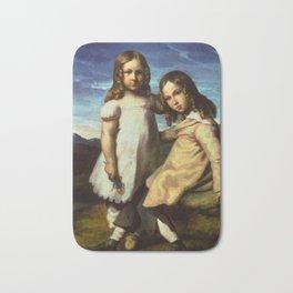 """Théodore Géricault """"Portrait of Alfred and Elisabeth Dedreux"""" Bath Mat"""