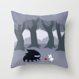 With a Friend Throw Pillow