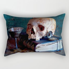 Skull in a dark set up 1 Rectangular Pillow