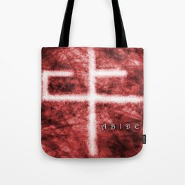 Abide Red Tote Bag