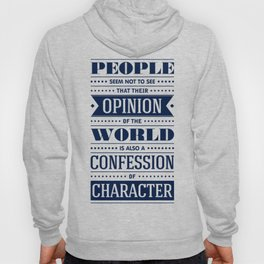 Lab No. 4 People Seem Not to Ralph Waldo Emerson Inspirational Quote Hoody
