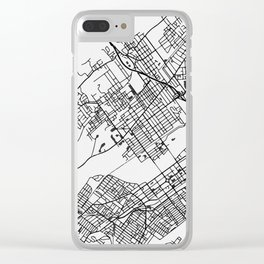 Wilkes-Barre Pennsylvania Map Clear iPhone Case