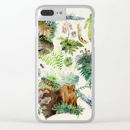 Fungi & Ferns Ivory Clear iPhone Case