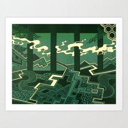 Sleepwalking air between gaps Art Print