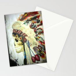 INDIAN WITH HEAD DRESS Stationery Cards