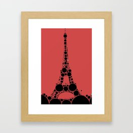 """Eiffel Tower Magenta Background - from """"Further Back"""" series Framed Art Print"""