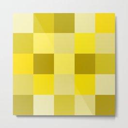 Yellow shades squares Metal Print