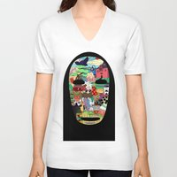 spirited away V-neck T-shirts featuring No Face by Ilse S