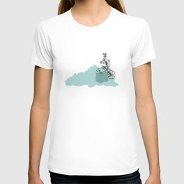 Dog on the katy cloud trail. Joy in the clouds collection T-shirt