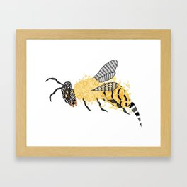 Abstract Bee Framed Art Print