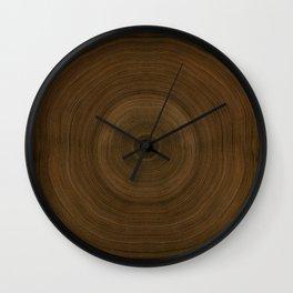 Earthy Tree Ring Pattern Wall Clock