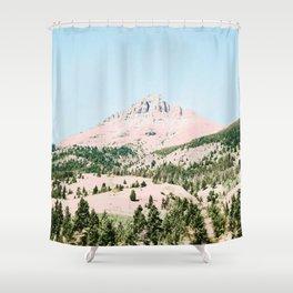 Happy Mountain #society6 #decor #buyart Shower Curtain