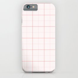 Red Graph Paper Pattern iPhone Case