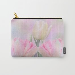 Painterly Pastel Tulips Carry-All Pouch
