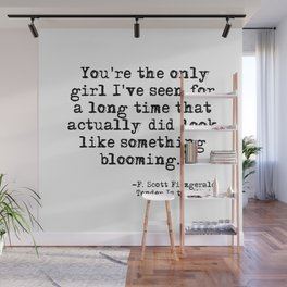 The only girl - F Scott Fitzgerald Wall Mural