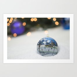 Boston Common Christmas Ornament Art Print