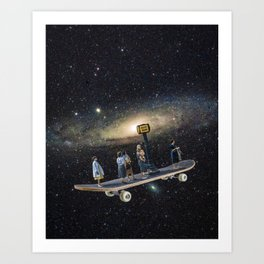 Galaxy board Art Print