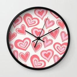 MESSY HEARTS: PEACHY Wall Clock