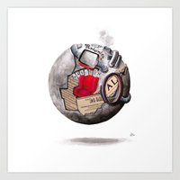 globe Art Prints featuring globe by Paradox