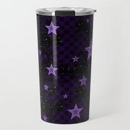 Purple Neon Stars Travel Mug