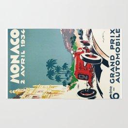 Grand Prix Monaco, 1934, vintage poster Rug