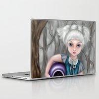 aquarius Laptop & iPad Skins featuring Aquarius by Paula Ellenberger