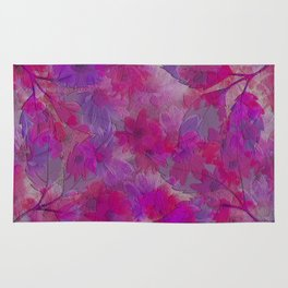 Painterly Evening Floral Abstract Rug