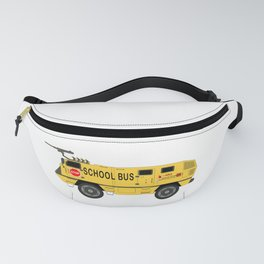 Armored Yellow School Bus Anti-Weapon Tank Fanny Pack