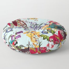 Floral and Birds XXXIV Floor Pillow