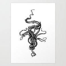Octoflowers Art Print