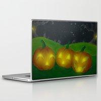 lantern Laptop & iPad Skins featuring Lantern Trio by KristenOKeefeArt