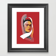 Abstract Frida Kahlo Framed Art Print