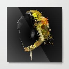 Daft Punk - Gold Metal Print