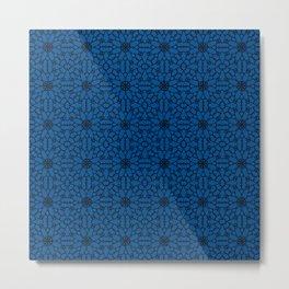Lapis Blue Lace Metal Print