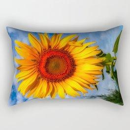 Blooming Sunflower  Rectangular Pillow