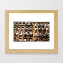 building in harlem - new york Framed Art Print