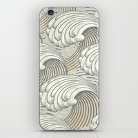 waves iPhone & iPod Skins featuring waves by Vickn